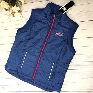 Blue NFL Buffalo Bills Puffer Vest Jacket